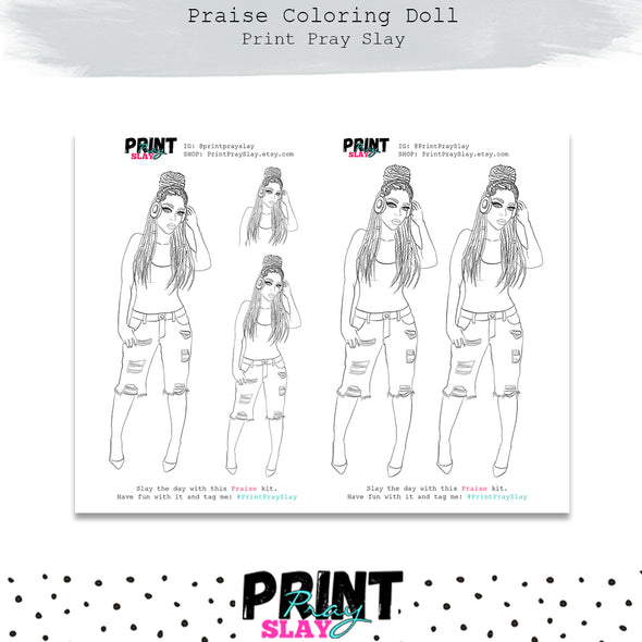 Praise Doll Coloring Page