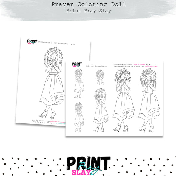 Prayer Doll Coloring Page