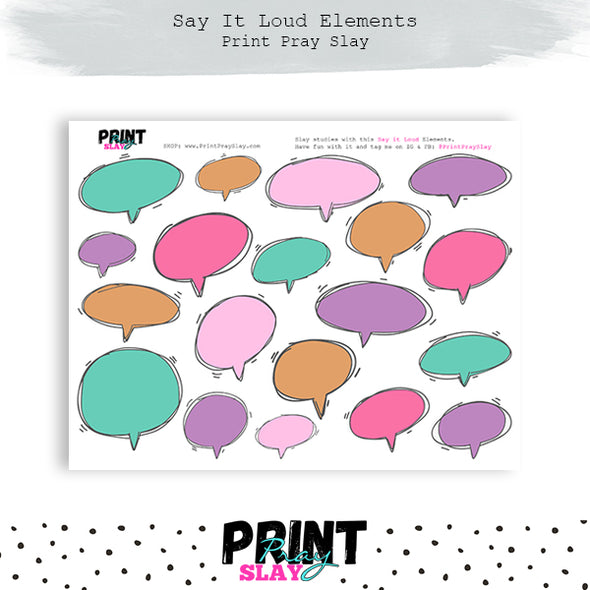 Say It Loud Speech Bubbles - Cotton