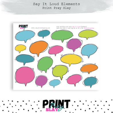 Say It Loud Speech Bubbles - Skittles