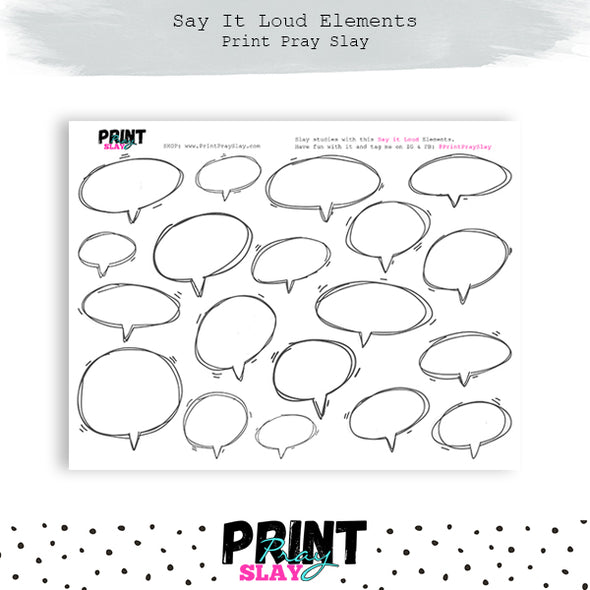 Say It Loud Speech Bubbles - Blank
