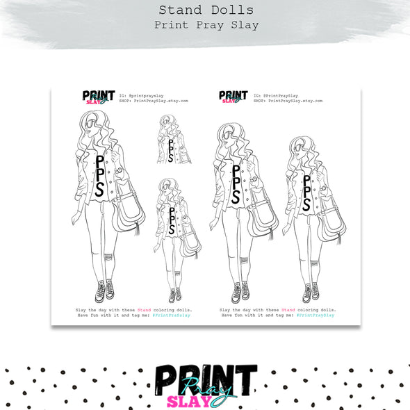 Stand Doll Coloring Page