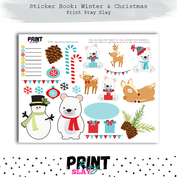 Winter Sticker Book
