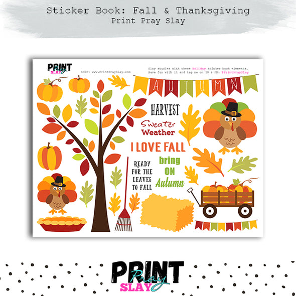 Fall Sticker Book