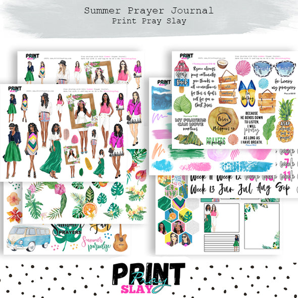 Summer Prayer Journal 8.5x11 Size