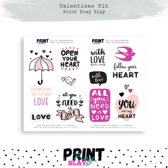 Valentines LOVE Sticker Book