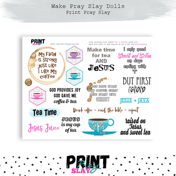 Coffee Wake Pray Slay Dolls MD