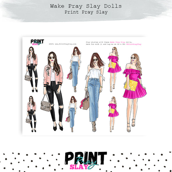 Glamour Girl Wake Pray Slay Dolls LT