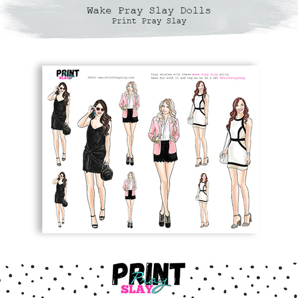 Faith Friends Wake Pray Slay Dolls LT Tone