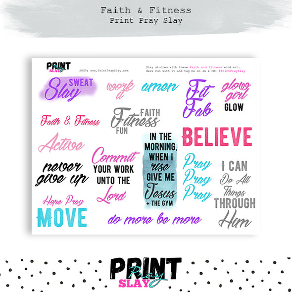 Faith and Fitness Wake Pray Slay Dolls LT