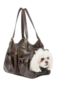 Metro - Chocolate Brown w/ Tassel Dog Bag - PetStoreNMore