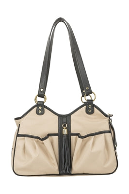 Metro Khaki Metro Couture w/ Black Leather Trim & Tassel - PetStoreNMore