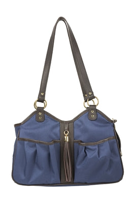 Metro Couture Navy w/Brown Leather Trim & Tassel - PetStoreNMore