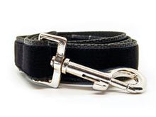 Load image into Gallery viewer, Kashmir Temple Red Extra Wide Martingale Dog Collar & Jet Black Velvet Leash