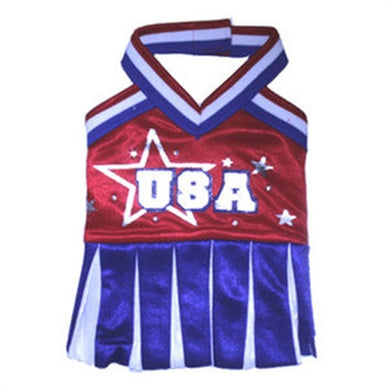 USA Cheerleader Dog Costume