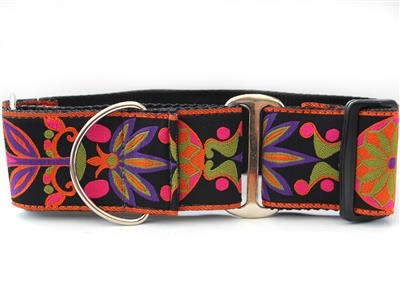 Venice Ink Extra Wide Martingale Dog Collar
