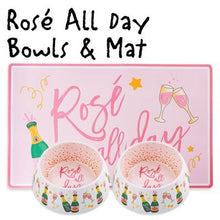 Load image into Gallery viewer, Rose All Day Bowls & Mat