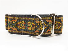Load image into Gallery viewer, Bohemian Rhapsody Extra Wide Martingale Dog Collar & Sable Velvet Leash