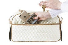 Load image into Gallery viewer, Marlee - Ivory Quilted With Snake Dog Carrier - PetStoreNMore