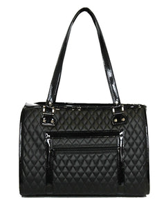 The Payton - Black Quilted Dog Carrier - PetStoreNMore