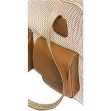 "Load image into Gallery viewer, Beige & Brown Mesh ""See Through""  Dog Carrier w/ Leather Trim - PetStoreNMore"