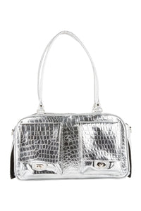 Marlee - Silver Gator Dog Bag