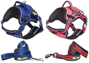 Dog Chest Compression Dog Harness And Leash Combo