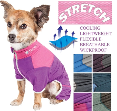 Pet Life® ACTIVE 'Embarker' Two-Toned Full body Warm Up