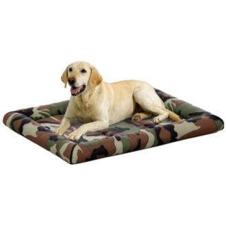 Midwest Quiet Time Maxx Camo Green Dog Bed - PetStoreNMore