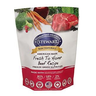 Stewart Raw Naturals Freeze Dried Food 12 oz Beef - PetStoreNMore