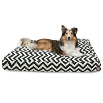 Majestic Outdoor Black Chevron Rectangle Pet Bed