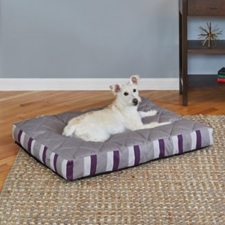 Quiet Time Empress Plum Stripe Dog Bed