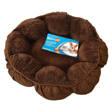 Aspen Pet Puffy Round Cat Bed - PetStoreNMore