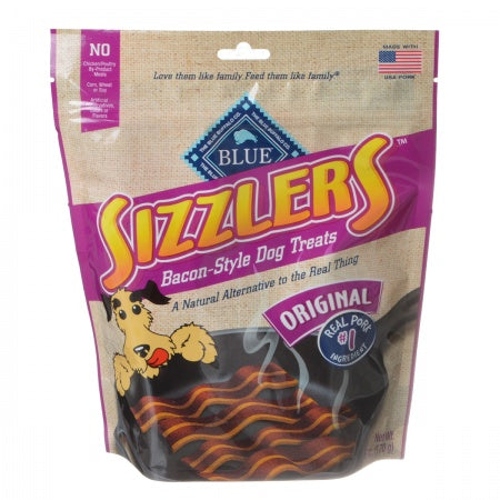 Blue Buffalo Sizzlers Bacon-Style Dog Treats - 6 oz - PetStoreNMore