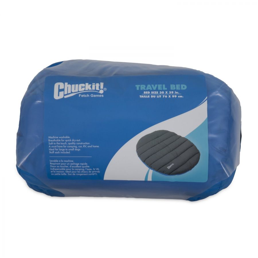 Chuckit Travel Dog Bed - Blue & Gray