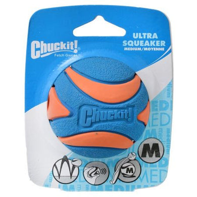 Chuckit Ultra Squeaker Ball Dog Toy* - PetStoreNMore