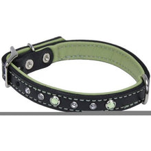 Load image into Gallery viewer, CircleT Fashion Leather Jewel Collar Green