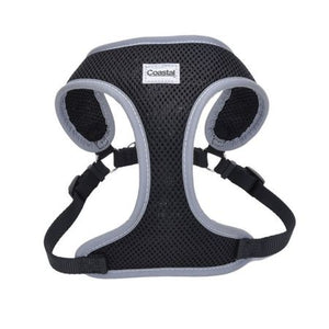 Coastal Pet Comfort Soft Reflective Wrap Adjustable Dog Harness - Black - PetStoreNMore