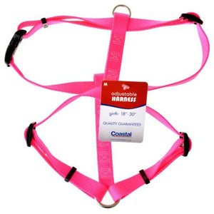 Coastal Pet Nylon Adjustable Dog Harness - Neon Pink - PetStoreNMore