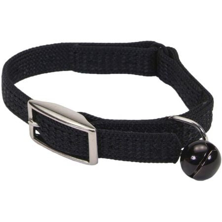 Coastal Pet Sassy Snagproof Nylon Safety Cat Collar Black - PetStoreNMore