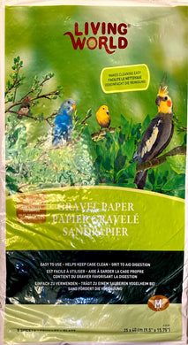 Living World Bird Cage Gravel Paper 9.5