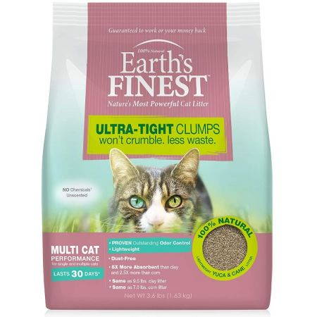 Earths Finest Premium Clumping Cat Litter