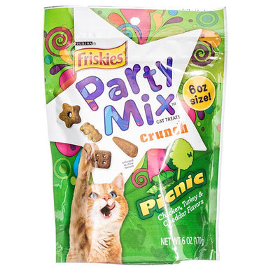Friskies Party Mix Picnic Crunchy Cat Treats 6oz - PetStoreNMore