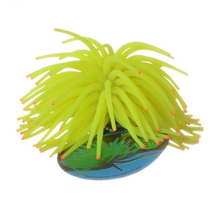 GloFish Yellow Anemone Aquarium Ornament