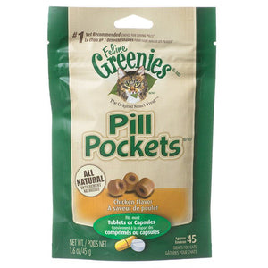 Greenies Pill Pockets Chicken Flavor Cat Treats