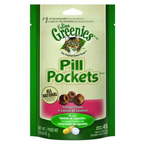 Greenies Pill Pockets Salmon Flavor Cat Treats - PetStoreNMore
