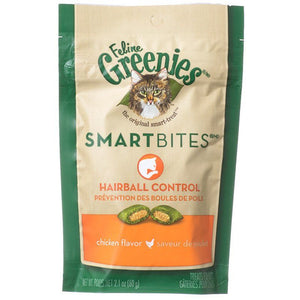 Greenies SmartBites Hairball Control Chicken Flavor Cat Treats 2.1oz