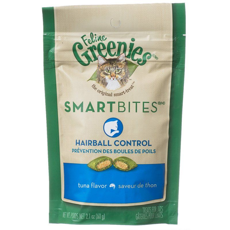 Greenies SmartBites Hairball Control Tuna Flavor Cat Treats 2.1oz - PetStoreNMore