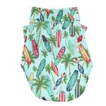Hawaiian Camp Shirt - Surfboards and Palms - PetStoreNMore