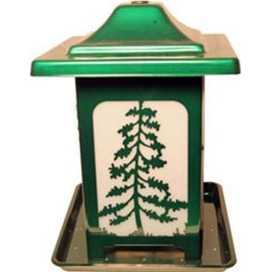 Homestead Woodland Pines Forested Seed Feeder Green - PetStoreNMore